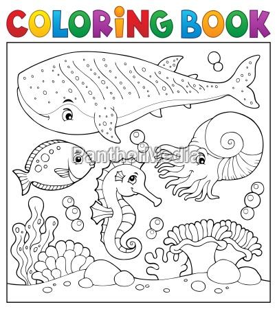 coloring book sea life theme 2