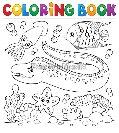 coloring book sea life theme 3