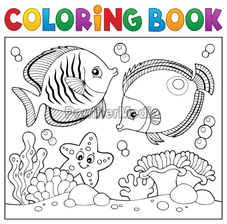 coloring book sea life theme 5