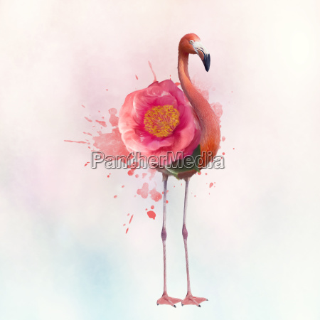pink flamingo painting