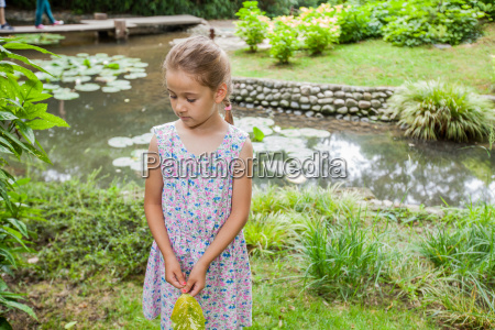 cute happy child in nature