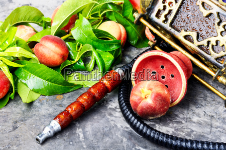 oriental shisha with peach