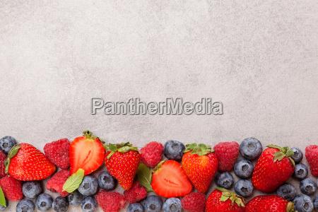 delicious berries strawberries blueberries and raspberries