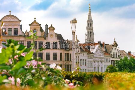 rathaus in bruessel belgien