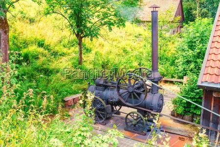 old steam engine traction engine