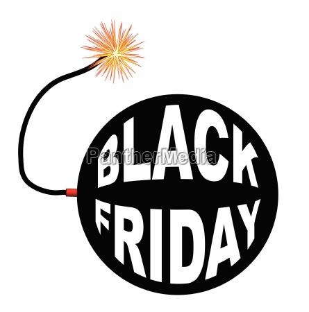 black friday bombe and lit fuse