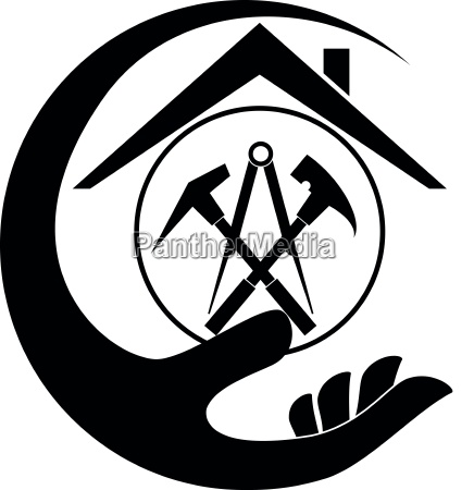 hand roofing tools roofer tools logo