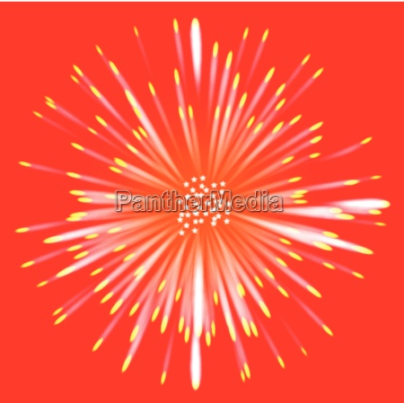abstract flower style red background