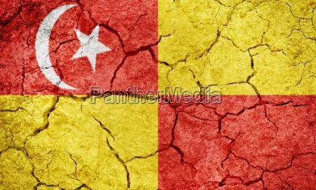 selangor bundesstaat malaysia flagge
