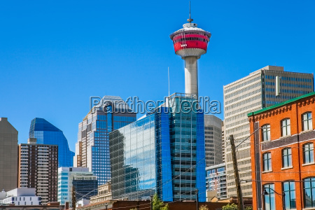 city skyline of calgary canada