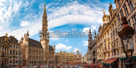 grand place square in bruessel belgien