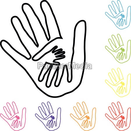 hands people team family helper logo