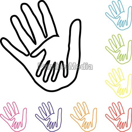 hands people team family helper logo