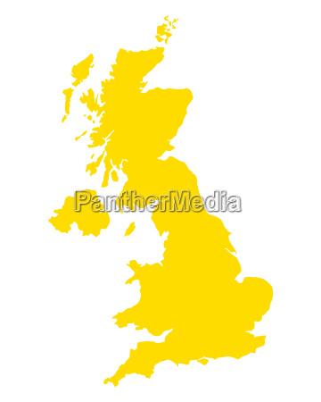 karte von grossbritannien