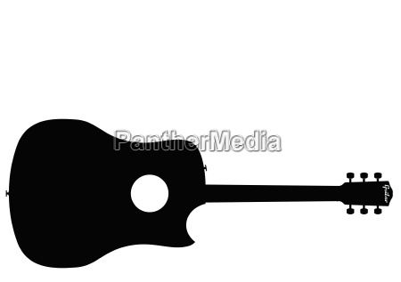 single cut guitar silhouette