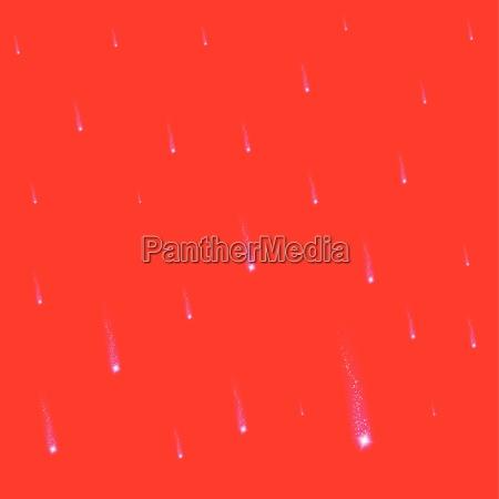 red falling christmas falling stars