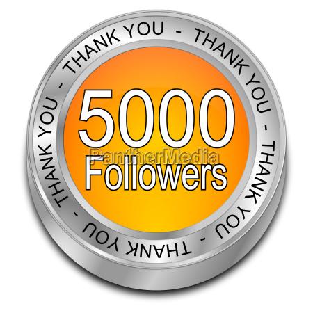 oraange 5000 followers thank you