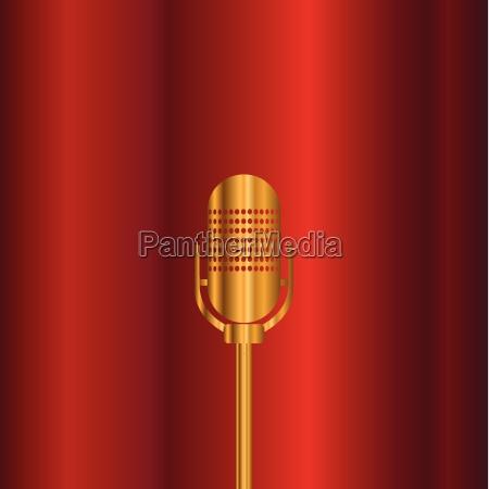 goldenes mikrofon hintergrund