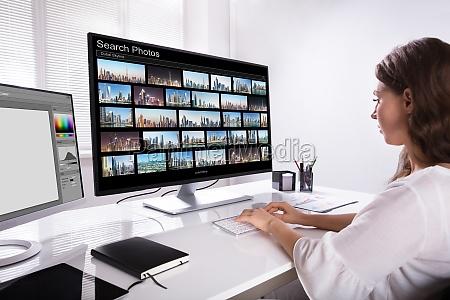 editor suchen fotos auf dem computer