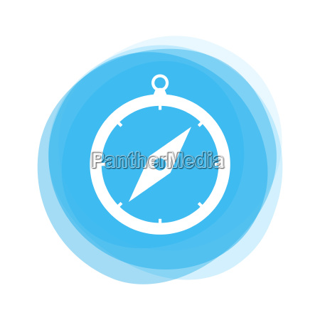 hellblauer knopf kompass