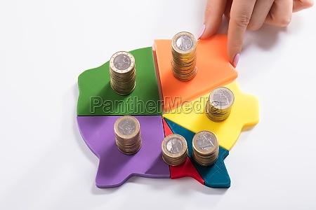 woman placing last piece into multi