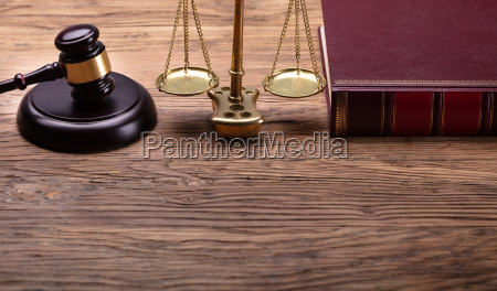 judge gavel and justice scale and