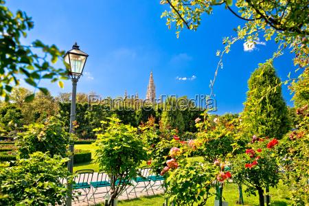 green volksgarten park of vienna and