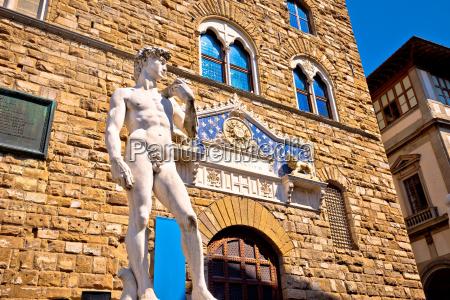 piazza della signoria statue von david