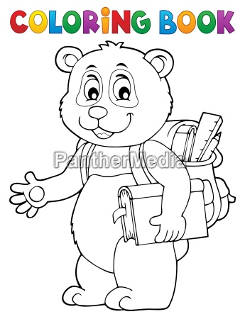 coloring book school panda theme 1