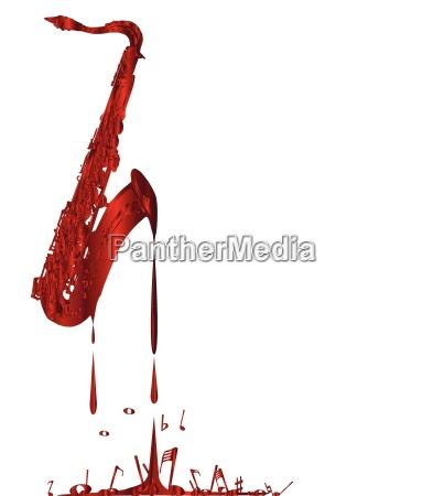 red hot saxophon