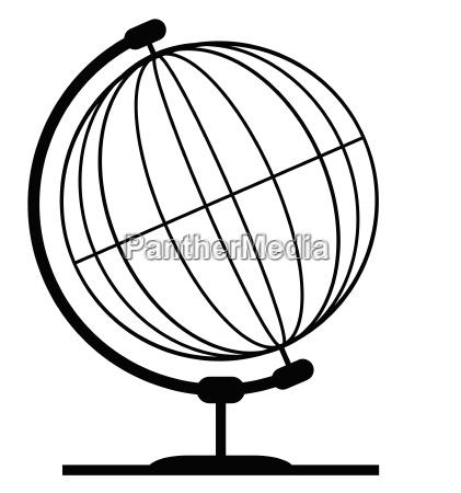 draht umriss kontur schattenriss globus planet