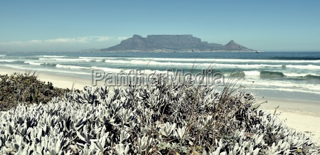 landscape with table mountain and the