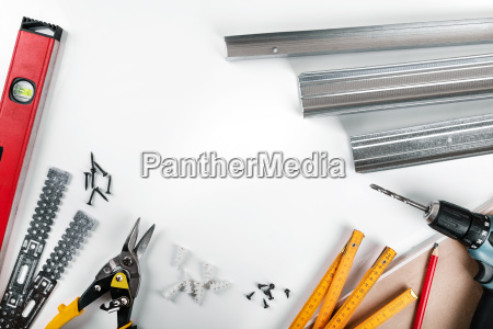drywall mounting tools and fasteners on