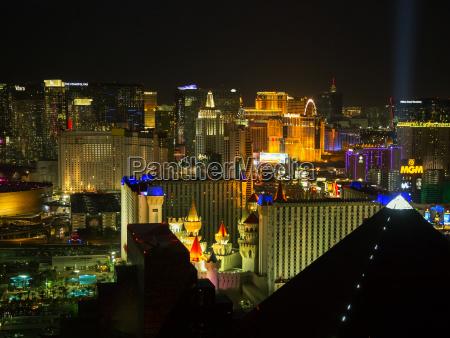 panoramablick auf las vegas streifen in