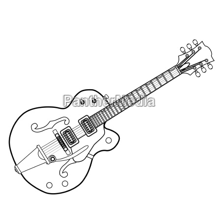 country und western guitar outline
