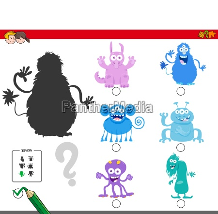 shadows game with cartoon monster characters