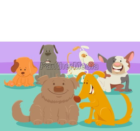 dogs or puppies cartoon characters group