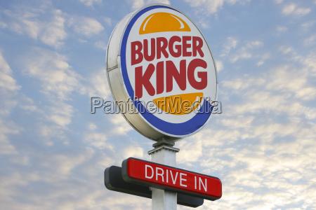 burger king logo einfahren