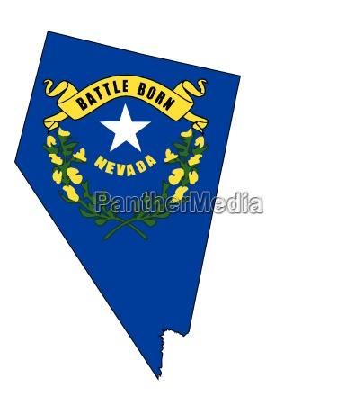 nevada UEbersichtskarte und flagge