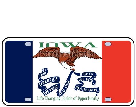 iowa flaggen kfz kennzeichen