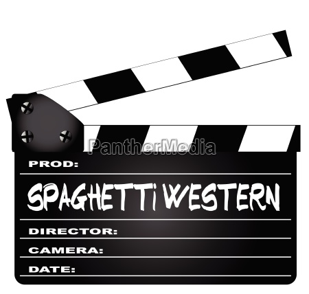 spaghetti western filme clapperboard