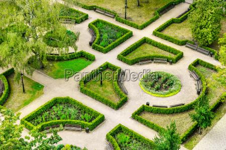 landscape gardening aerial view to