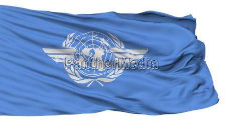 icao flagge getrennt auf weiss