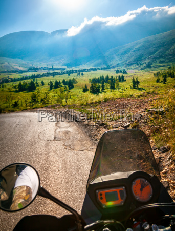 traveling on the motorbike