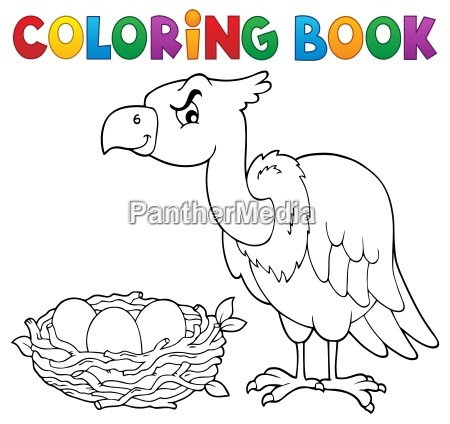 coloring book bird topic 2