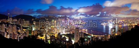 high resolution panoramic view of hong