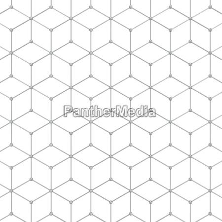abstraktes sechseck muster
