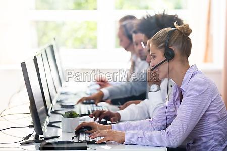 kundendienst fuehrungskraefte die im call center