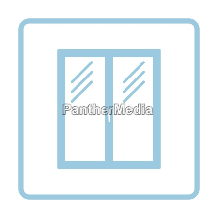 icon of closed window frame