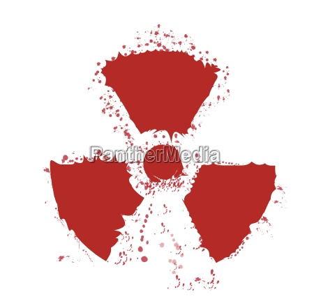 splatter radioactive warning symbol